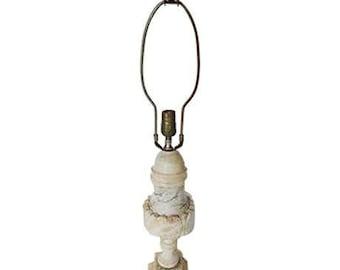 SALE! Org 145.00 Antique Alabaster Lamp