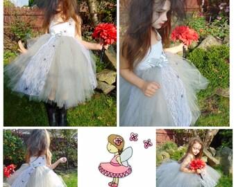 Zombie bride, kids halloween costume, girls costume, dead bride, frankenstein bride, corpse bride