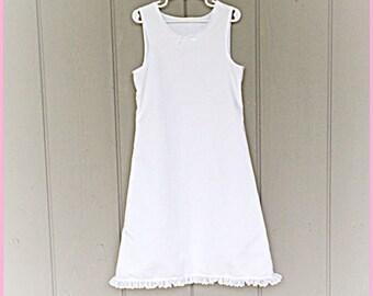 GIRLS SLIP PETTICOAT white layered cotton toddlers undergarment