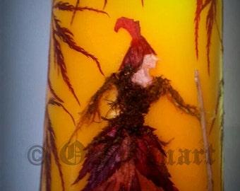 Hedge Witch Candle - Autumn - Pressed Botanicals - Oshibana
