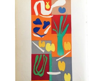 "Henri Matisse Original Lithograph ""Vegetaux"" 1958"