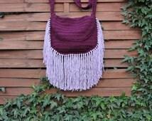 saint laurent cassandre small tassel crossbody bag black - monogram crochet fringe clutch bag, white