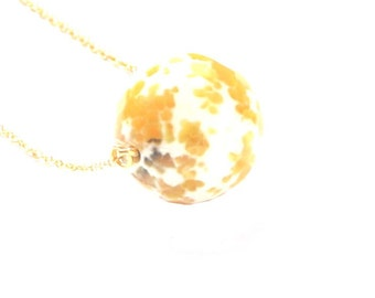 Agate Gold Necklace Short