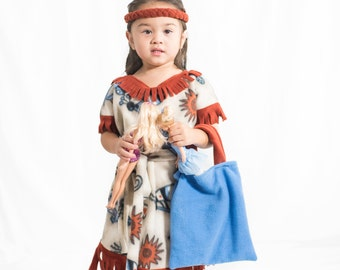 Girls Native Indian Halloween Costume Sizes 3T/4T or 5/6