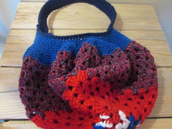 Handmade Crochet Granny Square Hobo Bag Purse Crochet Acrylic