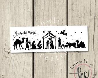 Joy to the World Nativity Scene-VINYL ONLY