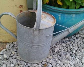 Vintage Watering Can, Galvanised.