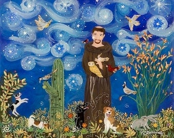 St. Francis of Assisi Dog Art Print
