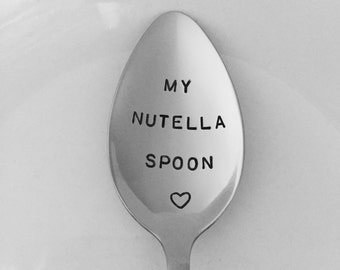 My Nutella Spoon-Hand Stamped Spoon-Valentines-Birthday Gift-Nutella Lover-Best Selling Item-Gift Under 20-Customized Spoon