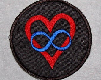 Polyamory Pride Flag embroidered patch