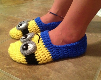 Minion slippers for the whole family