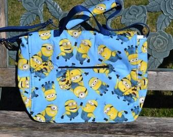 Minion Messenger Bag in Blue