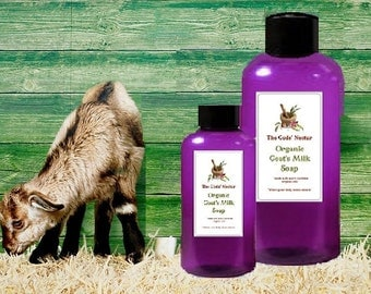 All Natural 10 oz Goats Milk with Shea Butter Body Wash / Shower Gel   Moisturizing! Organic Ingredients