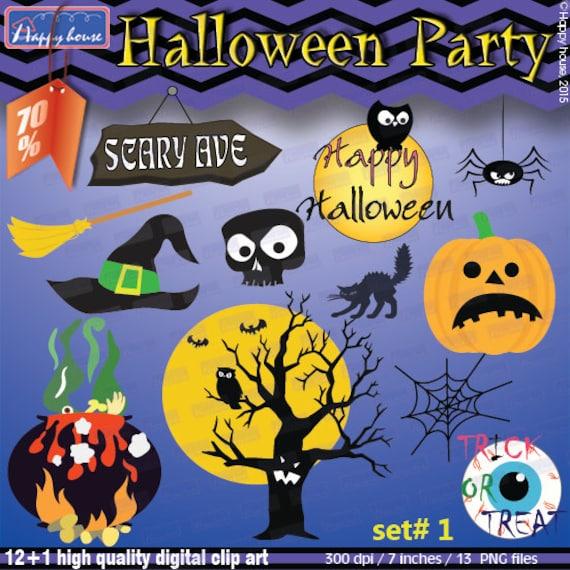 Items Similar To HALLOWEEN Digital Clipart, Halloween Clip ...
