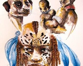 Protection ritual b y African shaman