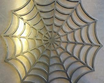 Spider web metal art Rod Chopper Bobber plasma Cut Welding Frame gusset