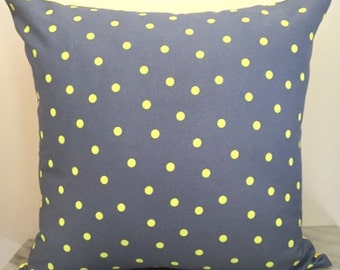Charcoal + Yellow Spotted Canvas Cushion Pillow Cover
