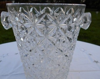 Vintage French Crystal Champagne Bucket/Icebucket/Seul a Glace