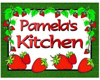 Personalized Strawberry Design Kitchen MAGNET ~ FREE SHIPPING