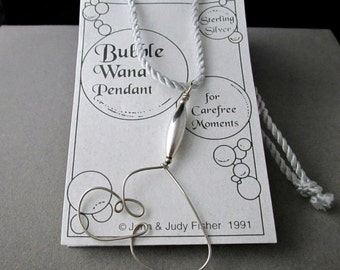 sterling silver BUBBLE WAND necklace