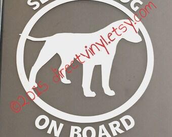 Service Dog On Board Vinyl Decal