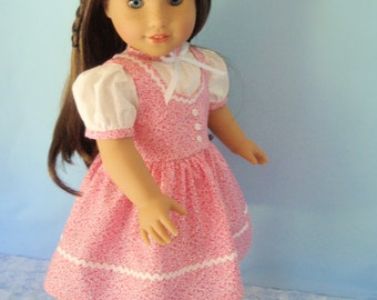 American Girl 18 Inch Doll Dress 1940's Blouse and Jumper Forties Style