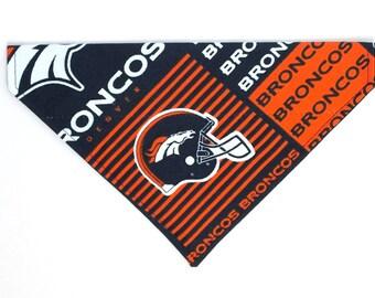 Denver Broncos Dog Bandana, Dog Scarf