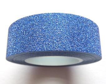 Cobalt Blue Glitter Sticky Tape 15mm x 10m