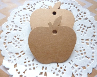 Apple Shaped Gift Price Tags Crafts 6 x 4.7 cm Gift Wrapping Crafts