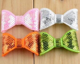 Sequin Bows,Wholesale Sequin Bows,You Pick Color