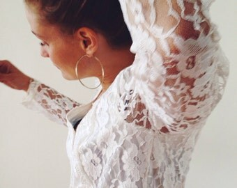 Vintage blouse,top,in lacefrom the 80s!