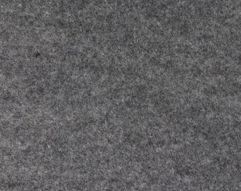 Smoke Gray Felt Fabric - by the yard