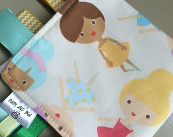 Girly Ribbon Blanket, Ballet Taggie, Cute baby gift, Adorable Baby Lovely