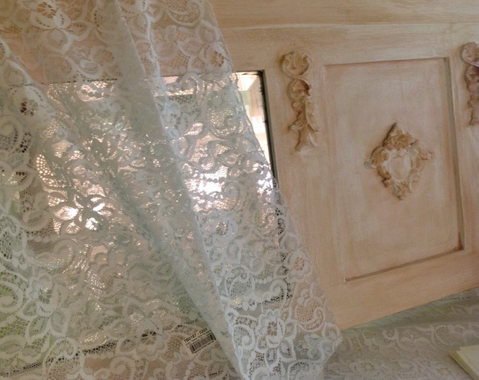 Chantilly lace fabric