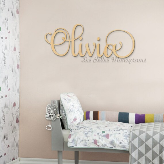 Unique Wall Decor For Nursery : Decorative wooden letters nursery decor large
