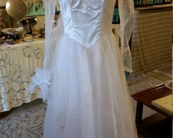 1940's Wedding dress and accessories