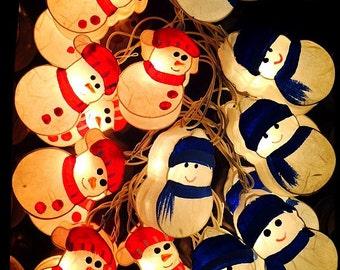 20 Snowman Lanterns String Lights Fairy,Kid's Room Home Lighting Home Decor