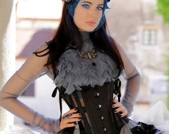 Ready to wear, Steel boned Underbust Mesh corset, Stays inspired. 22 waist