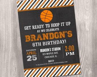 Basketball Invitation, Basketball birthday invitation, Basketball Printable Invite, Basketball party, sports, digital, Printable Invitation