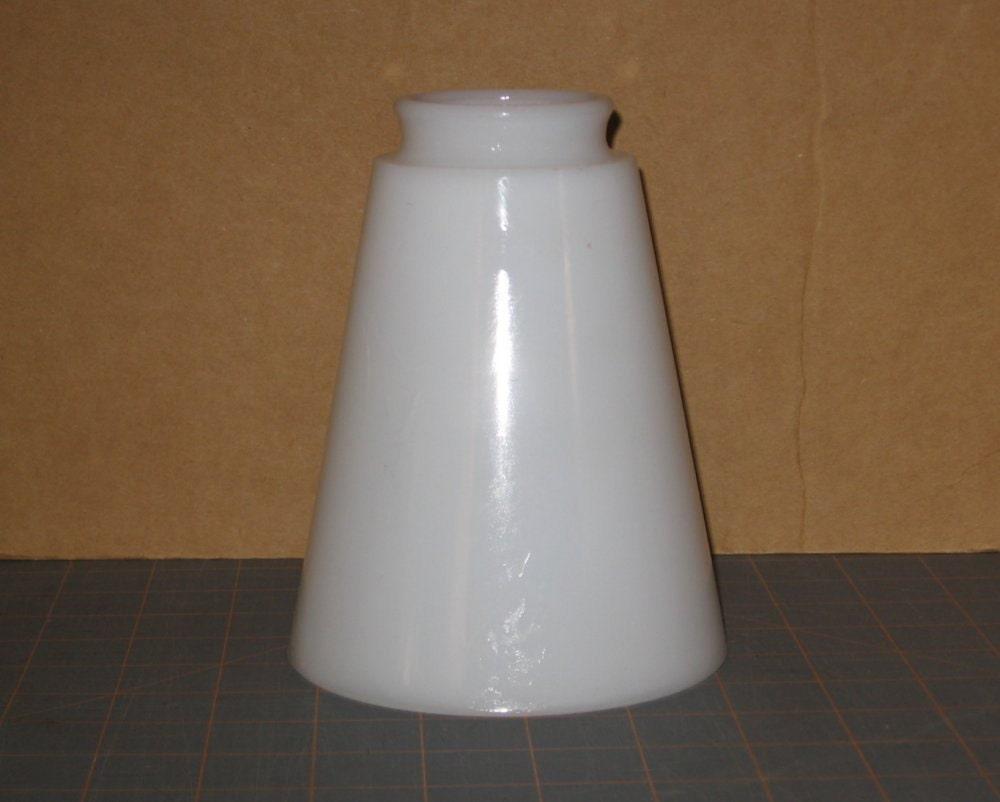 Milk Glass Lamp Shade Mid Century Cone Shaped Diffuser Shade
