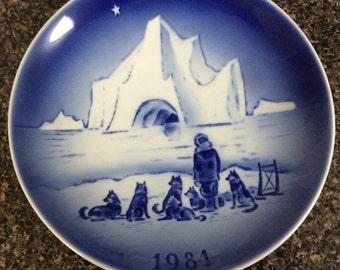 "1981 Desiree  Christmas Plate 7"""