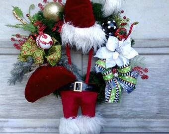 Christmas Wreath, Christmas Santa Wreath