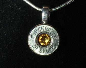 "20"" Winchester Bullet Casing Pendant Necklace"
