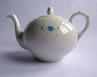 vintage french white teapot
