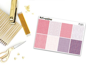 Funky Pink and Purple Full Boxes | Set of 8 Stickers | Perfect for all planners.