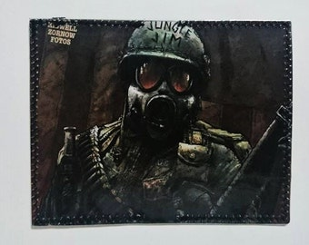 Jungle Jim soldier recycled comic book wallet - slim wallet - hanmade wallet - card holder - thin wallet - unisex wallet - men's wallet
