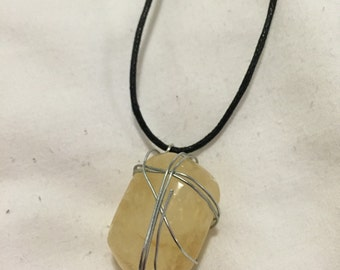 Yellow Calcite Crystal Necklace
