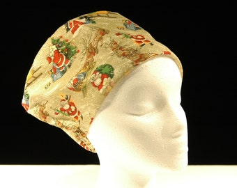 bouffant surgical bonnets, scrub hats, chemo hat, medical, professional, head gear, nurses, doctors, hats, sweat band
