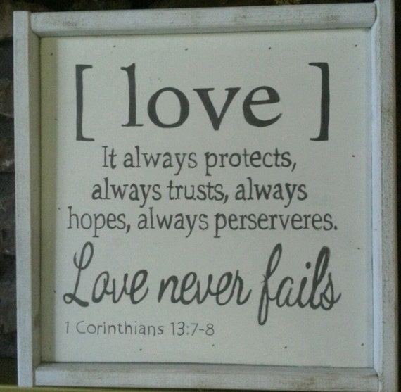 hand painted wall decor 1 corinthians 13 love by. Black Bedroom Furniture Sets. Home Design Ideas