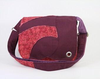Messenger bag, Purple and pink crossbody bag for girl, Shoulder bag